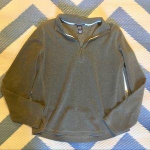 Tops - GAP Fleece Shirt Long Sleeves Gray Half Zippered